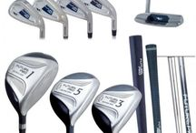 Custom Fit Golf Clubs for Kids / These clubs are custom fit for youngsters age 5 - 12. They have lightweight shafts, smaller size grips and the correct loft angle to deliver high, long distance shots.