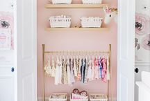 Baby Girl Room Wallpaper Decor Inspiration / Soft colors and textures will instantly upgrade a baby girl's room décor! So pretty!