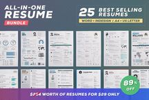 Resume/Cv Bundles and Offers / These are the best resume deals and bundles that you can find on my shop! Follow me for more amazing offers! @resumecreator