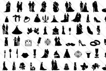 Wedding Silhouette Vector / A ultimate collection of wedding silhouette vector clip art showing ultimate joy and love which can be used for any wedding related graphic design.
