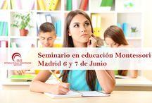 Seminarios Montessori / El seminario introductorio a la Educación Montessori que presentamos consiste en un seminario de 20 horas de duración y en el que se tratarán las diferentes áreas del Currículum Montessori y materiales montessori.