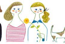 Illustrations / 500色の色えんぴつ イラスト
