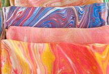 Marbling on Fabric / Marbling on fabric is fun and easy and you'll love the unexpected results. / by Linda Matthews | Textile Art & Design
