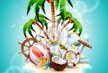 Summer Holiday and Travel Illustrations / Summer Holiday and Travel Illustrations - More Images: http://www.yoographic.com/image-type/summer-holiday-travel/