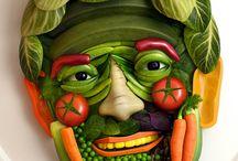 Gestalten mit Gemüse u.a. Zutaten