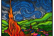 Van Gogh Art / Our collection of amazing entries from our Van Gogh Starry Night competition.