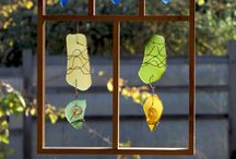 Suncatchers / Handcrafted suncatchers from sea glass, beach glass, stained glass.