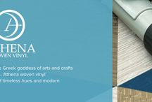 Athena / Inspired by Athena, the Greek goddess of arts and crafts, master of weaving, Athena Woven Vinyl incorporates a blend of timeless hues and modern designs.