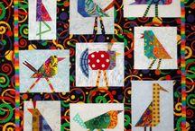Funky birds quilt.
