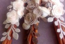 Войлочные Цветы