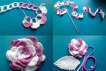 Rosas de ganchillo