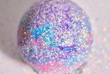 glitter bath boms