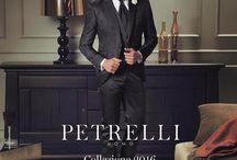 Catalogo 2016 Petrelli Uomo Collection Gold Classic e high ceremony Testimonial Alex Belli