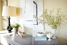 vignettes / my biggest failure as the mistress of my home.  i am so bad at creating vignettes!