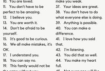 Positive ting å si til barn