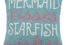 Coastal Mermaid Pillows