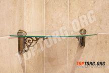 Стеклянные полки для ванной комнаты / Фотографии созданных нами стеклянных полок для ванной комнаты. При желании эти полочки можно использовать где угодно. Подробнее тут: http://toptorg.org/shop/stekljannye-polki-dlja-vannoj