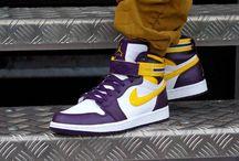 Nike Air Jordan 1 High Strap L.A Lakers 342132-571