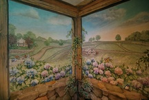 #3 Decorative Painted Walls / So many examples of so many artists ~ so much inspiration & beauty for places called home. / by Cynthia Bogart