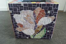 mozaiek plantenbak