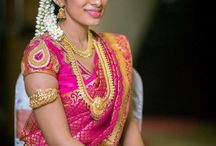 South Indian Bride in Pink Silk Saree / Fantastic board for South Indian Bride in Pink Silk Saree