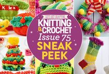 Issue 75 of LGC Knitting & Crochet / Issue 75 of LGC Knitting & Crochet magazine, on sale from 2nd October to 5th November 2015, comes with six balls of exclusive Tinsel yarn, including a special ball of eyelash yarn! Your festive yarn colour pack also comes with a 4mm crochet hook and bamboo knitting needles so you can make a start on your next project straight away. This issue we've got cute toys, warming accessories for little ones and some speedy festive decs for you to try – don't miss out!