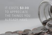 MONEY - QUOTES / Various quotes on frugality, financial freedom, consumerism