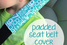 Seat Belt Covers and Pillows / DIY Seat Belt Covers, DIY Seat Belt Pillows, Seat Belt Cover Tutorials, Seat Belt Pillow Tutorials