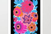 ART PRINTS: Deco Florals / Art Deco florals - art prints by artist Nancy Lorene. / by Nancy Lorene
