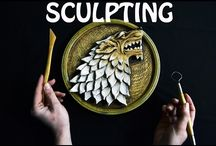 Sculpting Starks wolf sign