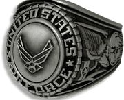 US Air Force Rings / Our Military Rings for the Air Force come in a variety of gold, silver, rhodium and more. / by PriorService.com