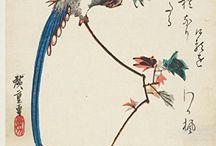 Utagawa / Ando Hiroshige journals and notebooks / Composition books . Cover images; works by Ando / Utagawa Hiroshige