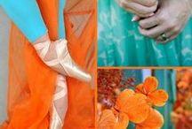 Turq & tangerine