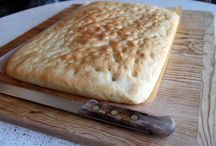 Freshly baked Rosemary Focaccia right out of the oven. / Rosemary bread