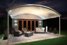 Stratco Outback Curved Roof Patio / The Stratco Outback Curved Roof Patio is a unique, sleek, curved roof patio design with a contemporary flair, accentuated by its curved roof which arcs out above the veranda, transforming a drab under covered area into a luxury patio, carport or veranda. www.hats4houses.com.au