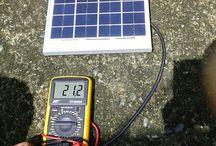 Testing Voltage Solar Panel