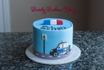 Rendőrautós torta