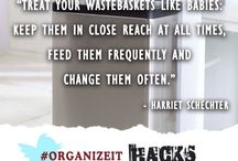 Quick Tips! Organize-It Cleaning and Organizing Life Hacks / Organize-It quick tips from our organizer at www.AskOurOrganizer.com