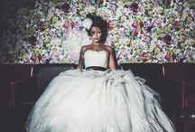Wedding dresses / Wedding dress inspiration. Cool brides. Gals rocking their frocks.