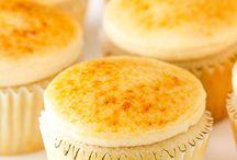 Creme brulle cupcake