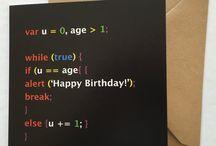 Birthday Cards / Geeky birthday cards