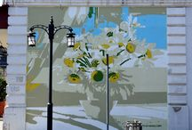 Wall Painting / Credits: Davit Tsanava, Nika Maisuradze, Tezi Gabunia Graphic Design, Painter technician: Oto Shengelia, Gvanca Gabunia  Photo: Nikoloz Gurabanidze  2015/2016