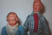 caco dolls / caco dockskåpsdockor - caco dollhouse dolls cacodockor caco dockor retro