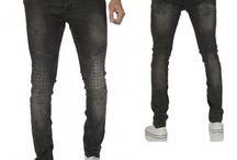 Heren Skinny Jeans DonkerGrijs