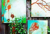 Garden Ideas and garden art / by Helen Randall
