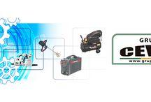 Compresores Cevik / Grupo Cevik fabrica compresores eléctricos de muy diverso tipo: cabezal en V, monoblock portátil, correas con ruedas, correas fijo, silencioso e insonorizado de pistón.