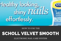 How to use the Scholl Velvet Smooth Electronic Nail Care System / Tired of going to the salon for perfectly looking polished nails? Check out our blog and learn how the Scholl Velvet Smooth Electronic Nail Care System is gentler on your nails, saves you time and money, and still gives you those perfect, smooth and shiny nails every time.