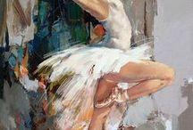 balerina oil painting