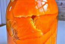 Schoonmaken / Met sinaasappelschillen en azijn