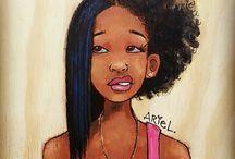 Black Hair Art / Black Hair Art